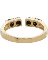 Loren Stewart - Metallic Black Diamond  Gold Open-face Ring - Lyst