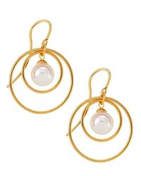 Majorica | Metallic 10mm Double-hoop Pearl Earrings | Lyst