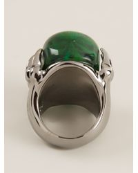 Alexander McQueen - Green Claw Skull Cocktail Ring - Lyst
