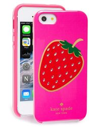 kate spade new york - Pink 'berry' Iphone 5 & 5s Case - Lyst