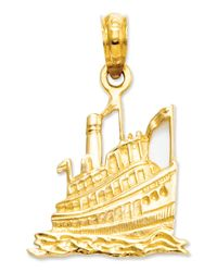 Macy's | Metallic 14k Gold Charm, Cruise Ship Charm | Lyst