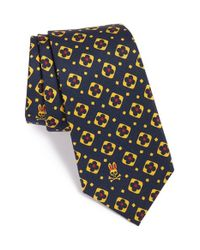 Psycho Bunny | Black Medallion Silk Tie for Men | Lyst