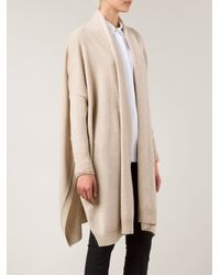 Rosetta Getty - Natural Open-Front Silk and Cashmere-Blend Cardigan - Lyst