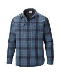 Columbia Blue Windward Iii Button-down Overshirt for men