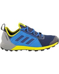 Adidas Originals Blue Terrex Agravic Speed Trail Running Shoe for men