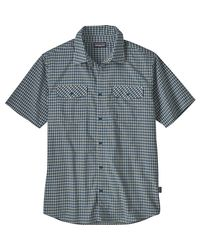Patagonia Blue High Moss Short-sleeve Shirt for men