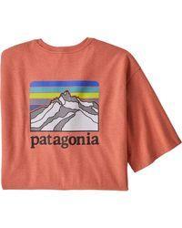 Patagonia Orange Line Logo Ridge Pocket Responsibili-t-shirt for men