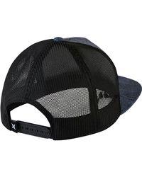 Hurley - Black Jjf Maps Trucker Hat for Men - Lyst