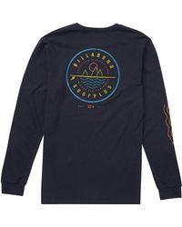 Billabong Blue Crossboard Long-sleeve T-shirt for men