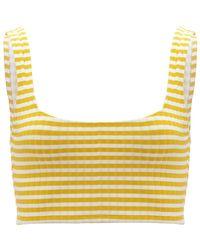 Solid & Striped Yellow Jamie Bikini Top