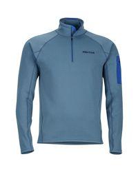 Marmot Blue Stretch 1/2-zip Fleece Jacket for men