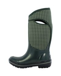 Bogs - Green Plimsoll Houndstooth Tall Boot - Lyst