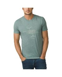Prana Green Mears Short-sleeve T-shirt for men