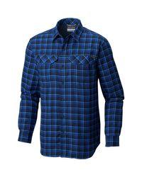 Columbia Blue Silver Ridge Flannel Long Sleeve Shirt for men