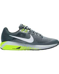 Nike Gray Air Zoom Structure 21 Running Shoe for men