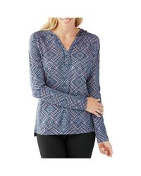 Smartwool - Blue Merino 150 Pattern Pullover Hoodie - Lyst