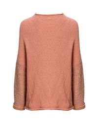 Free People - Pink Cuddle Up Pullover Sweater - Lyst