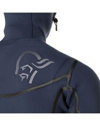 Norrona Blue Unstad 6/5 Hooded Wetsuit for men