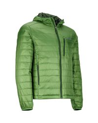 Marmot Green Calen Hooded Insulated Jacket for men