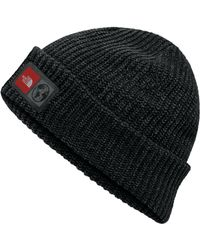 The North Face Black International Collection Label Beanie for men