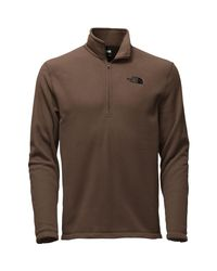 The North Face Brown Tka 100 Microvelour Glacier 1/4-zip Top for men