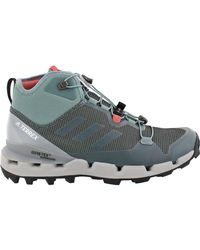 Adidas Originals Gray Terrex Fast Gtx-surround Mid Hiking Boot