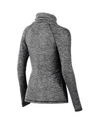 Asics | Black Asx Lux Mock Neck Shirt | Lyst