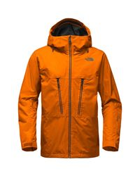 The North Face - Orange Thermoball Snow Triclimate Hooded Jacket for Men - Lyst