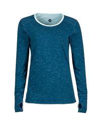 Marmot Blue Hannah Reversible Shirt - Long-sleeve