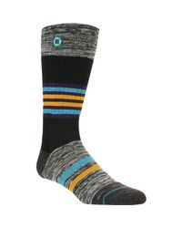 Stance Black Mica Outdoor Sock for men