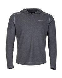 Marmot Gray Glen Eden Hooded Sweater for men