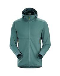 Arc'teryx Green Amaran Hooded Fleece Jacket for men