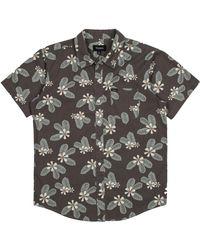 Brixton - Gray Charter Woven Shirt for Men - Lyst
