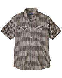 Patagonia Gray High Moss Short-sleeve Shirt for men