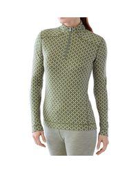 Smartwool Green Midweight Pattern Zip Top