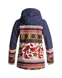 Roxy - Blue Torah Bright Jetty Block Hooded Jacket - Lyst