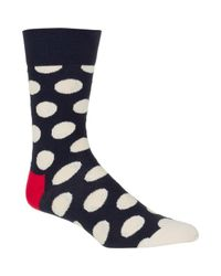Happy Socks - Blue Big Dot Socks for Men - Lyst