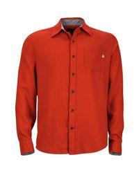 Marmot Red Hobson Flannel Shirt for men