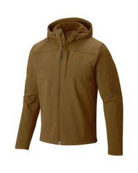 Mountain Hardwear Brown Ruffner Hybrid Hooded Jacket for men