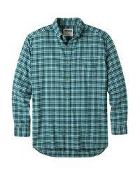 Mountain Khakis Green Downtown Flannel Shirt for men