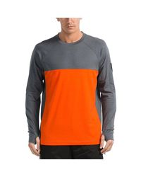 Mons Royale Orange Ninja Jersey Crew Top for men