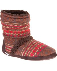 Muk Luks - Red Scrunch Boot - Lyst
