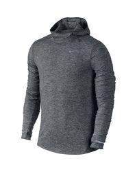 Nike Gray Dry Element Running Pullover Hoodie for men