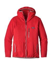 Patagonia Red R3 Hooded Fleece Jacket for men