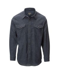 Pendleton | Blue Cascade Denim Fitted Shirt for Men | Lyst