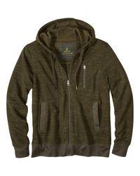 Prana Green Performance Fleece Full-zip Hoodie for men