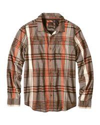 Prana Brown Delaney Flannel Shirt for men