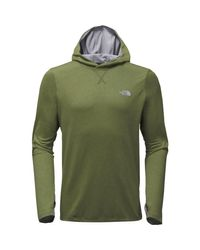 The North Face Green Reactor Pullover Hoodie for men