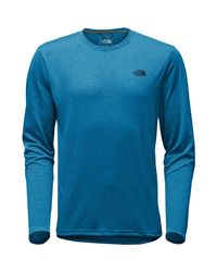 The North Face Blue Reaxion Amp Crew for men