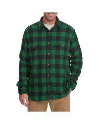 Woolrich Green Oxbow Bend Flannel Shirt for men